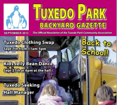 2015 Schedule of the Tuxedo Backyard Gazette