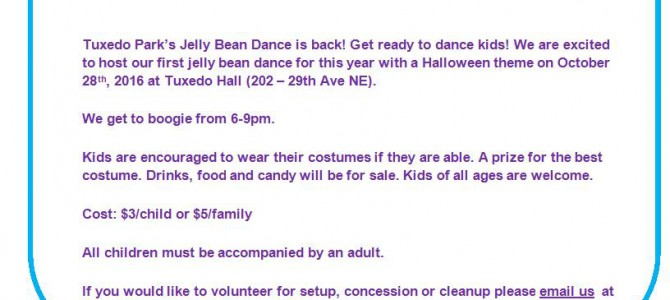 Tuxedo Park's Halloween Jelly Bean Dance!